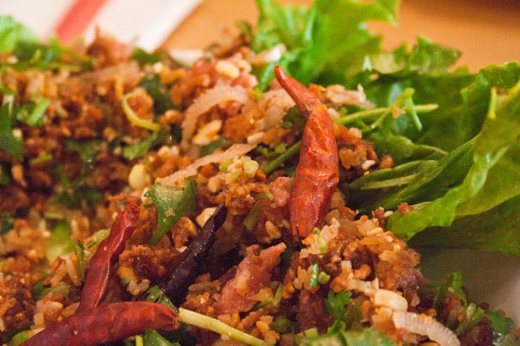 Laos Nam Kao Tod Food Touring
