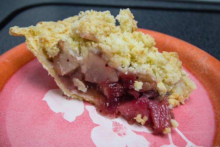 pear cranberry pie - 2