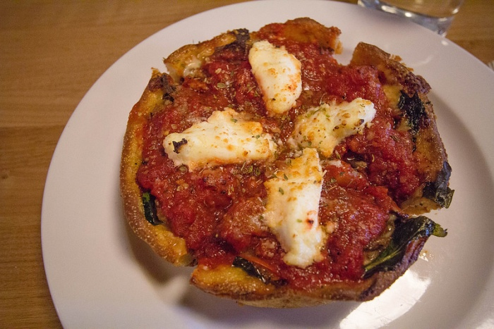 deep-dish pizza - 1