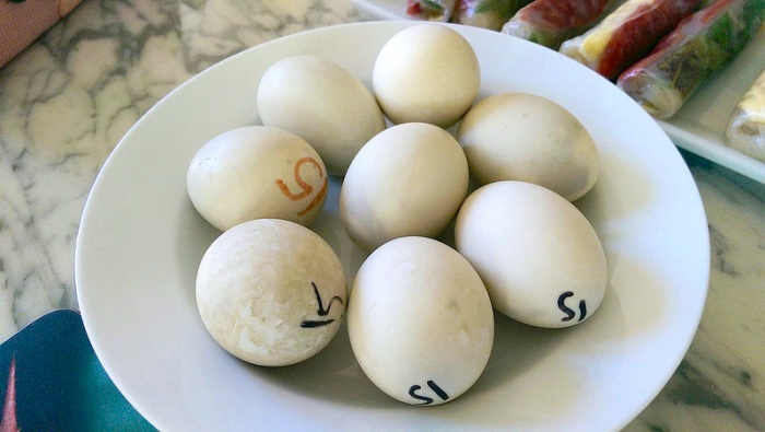 boiled duck eggs