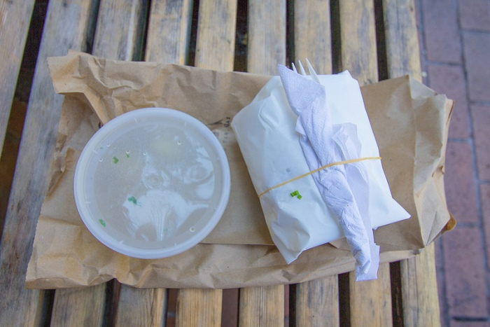 nong's khao man gai - food taken out