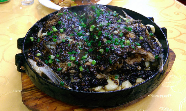 fish black bean garlic sauce